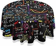 QMIN Table Cloth Math Education Pattern 60 inch