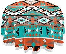 QMIN Table Cloth Tribal Aztec Geometric Pattern 60