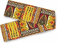 QMIN Table Runners African Women Geometric Print,