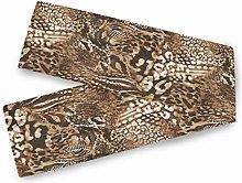 QMIN Table Runners Animal Snake Skin Print, Table