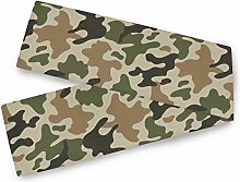 QMIN Table Runners Camo Camouflage Print, Table
