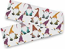 QMIN Table Runners Christmas Funny Gnomes Snowman,