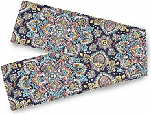 QMIN Table Runners Indian Floral Paisley Ethnic