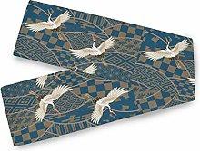 QMIN Table Runners Japanese Bird Crane Pattern,