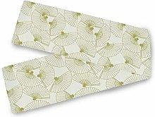 QMIN Table Runners Japanese Folding Fan Pattern,