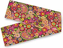 QMIN Table Runners Spring Floral Paisley Pattern,