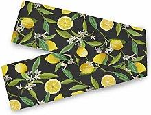 QMIN Table Runners Summer Fruit Lemon Floral,