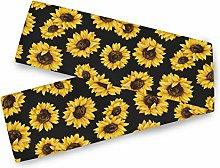 QMIN Table Runners Summer Sunflower Pattern Print,