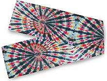 QMIN Table Runners Tribal Abstract Swirl Tie Dye,