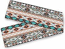 QMIN Table Runners Tribal Ethnic Aztec Geometric,