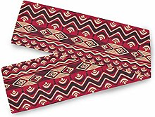QMIN Table Runners Vintage African Geometric