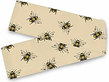 QMIN Table Runners Vintage Animal Bees Pattern,