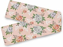 QMIN Table Runners Watercolor Rose Floral Pattern,