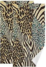 QMIN Towel Animal Zebra Tiger Leopard Print Hand