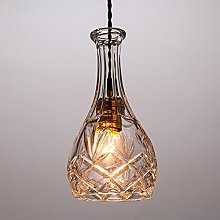 QMMCK Glass Pendant Lamp Wine Decanter Bottle E27