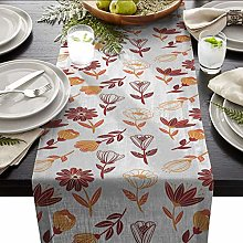 QMOL Linen Cotton Table Runners For Wedding Party