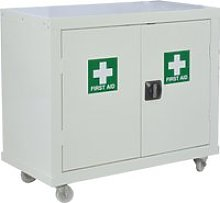 QMP First Aid Mobile Cupboards, 90wx46dx104h (cm),