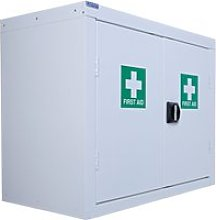 QMP First Aid Wall Cupboards, White