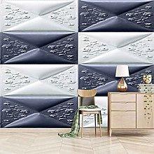 QMWZZV Art Wall Mural Photo Wallpaper Blue Soft