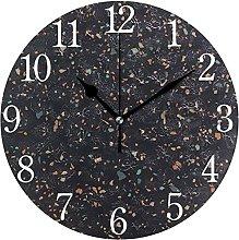 QND Trendy Background in Dark Round Wall Clock,