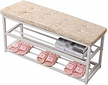 QNDDDD Shoe Racks Organize Beige Small Shoe Shelf