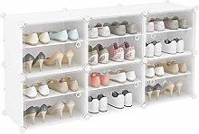 QNDDDD Shoe Racks Organize Enclosed Plastic Shoe