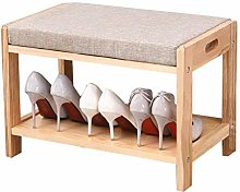 QNDDDD Shoe Racks Organize Shoe Bench Seat Wooden