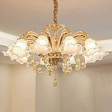 QNN Ceiling Lights,Golden Crystal Chandelier