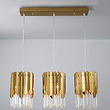 QNN Ceiling Lights,Modern Golden Crystal