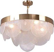 QNN Chandeliers,Ceiling Light Round Glass Warm