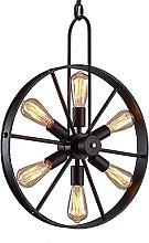 QNN Chandeliers,Individual Design Iron Wheel Shape