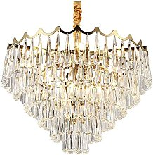 QNN Crystal Chandeliers,Ceiling Light 1 Round