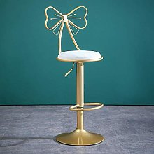QNN Desk Chair,Round Fabric Adjustable Bar Stools
