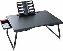 QNN Desk,Folding Desk, Black Multifunctional Desk