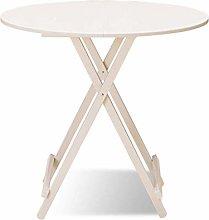 QNN Desk,Folding Table, Round Home White Folding