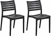 QNN Home Modern Leisure Plastic Dining Chair