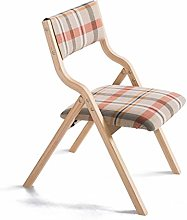 QNN Home Solid Wood Folding Chair Simple Modern