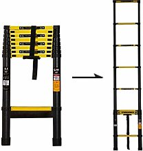QNN Ladder Telescopic Ladders,Black Atelescoping