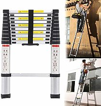 QNN Ladders,10.5 Ft Aluminum Telescopic Ladder,