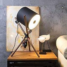 QNN Nordic Minimalist Modern Walnut Table Lamp
