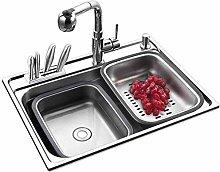 QNN Sink,Kitchen Sink. Double Sink Stainless Steel