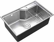 QNN Sink,Kitchen Sink. Rectangular Stainless Steel