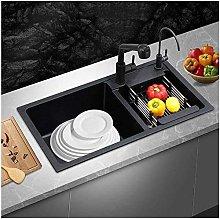 QNN Sink,Kitchen Sink. Retractable Double Sink
