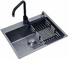 QNN Sink,Kitchen Sink Sink Black Single Bowl