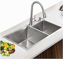 QNN Sink,Kitchen Sink Stainless Steel 0.3C Thick