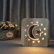 QNN Star Moon Creative Decorative Led Table Lamp