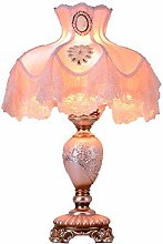 QNN Table Lamp, Pink Lace Warm Lamp, Bedroom