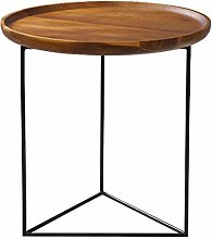 QNN Table,Metal Round Sofa Coffee 50Cm * 50Cm *