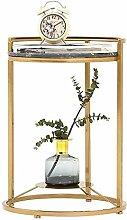 QNN Table,Metal Sofa, Marble Tabletop, for Living