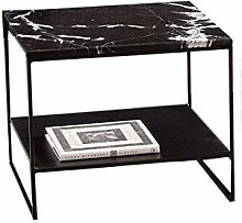 QNN Table,Nordic Sofa Marble Bedside with Metal